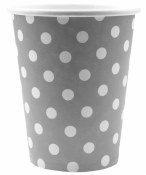 Polka Dot Paper Cups Silver