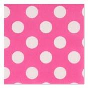 Polka Dot Bev Napkins Pink