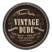 Vintage Dude Dessert Plates