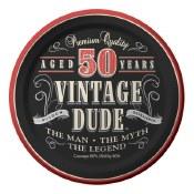 50th Vintage Dessert Plates