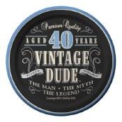 40th Vintage Dessert Plates