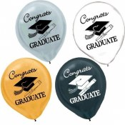 Grad Latex Balloons