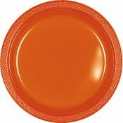 Orange Dinner Plastic Plates