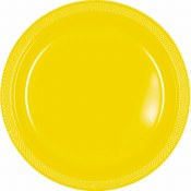 Yellow Dinner Plastic Plates