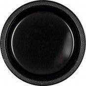 Black Dinner Plastic Plates