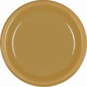 Gold Dinner Plastic Plates