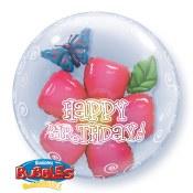 Birthday Flower Bubble Balloon