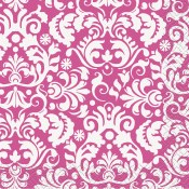 Damask Beverage Napkins Pink