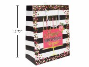 Birthday Pink/ Black Gift Bags
