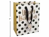 Birthday Gold Dot Gift Bag