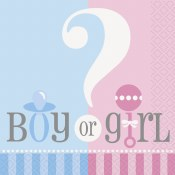 Gender Reveal Beverage Napkins