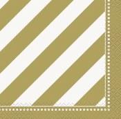 Gold Stripe Beverage Napkins
