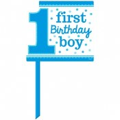 1st Birthday Blue Lawn Sign