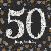 50th Sparkling Bev Napkins
