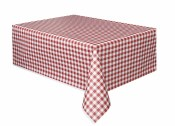 Red Gingham Tablecover