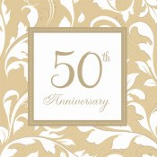 50th Anniversary Lunch Napkins
