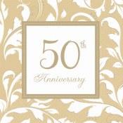 50th Anniversary Bev Napkins