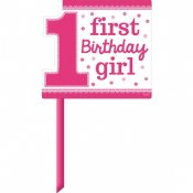 1st Birthday Girl Lawn Sign