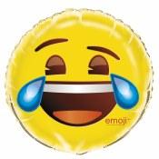 Emoji Cry 18in Foil Balloon