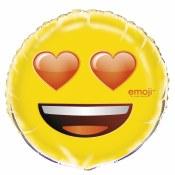 Emoji Heart 18in Foil Balloon