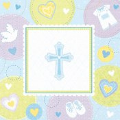 Boy Christening Bev Napkins
