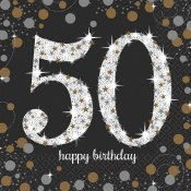 50th Sparkling Lunch Napkins