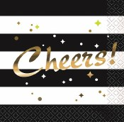 Cheers Chic Beverage Napkins