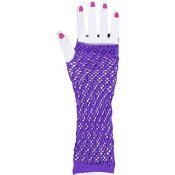 Fingerless Fishnet Gloves Purp