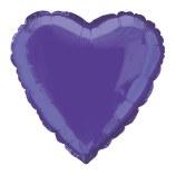 Heart Foil 18in Purple