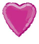 Heart Foil 18in Fushia