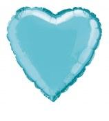 Heart Foil 18in Light Blue