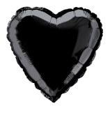 Heart Foil 18in Black