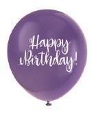 Birthday Script Latex Balloons