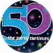 50th Birthday Dessert Plates