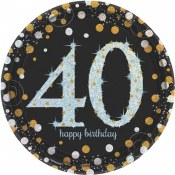40th Sparkling Lunch Plates