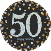 50th Sparkling Lunch Plates