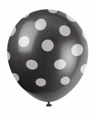 Polka Dot Latex Balloons Black