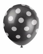 Polka Dot Latex Balloons Black