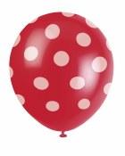 Polka Dot Latex Red