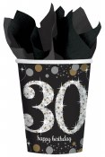30th Sparkling Paper Cups