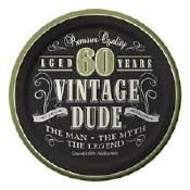 60th Vintage Dessert Plates