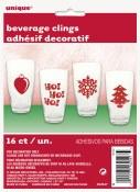Christmas Beverage Clings