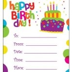 Cake Birthday Invites
