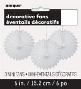 Paper 6in Fan Decor White