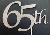 65th Cake Topper