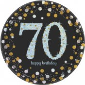 70th Dessert Plates