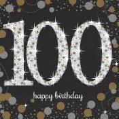 100th Beverage Napkins