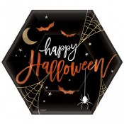 Halloween Hexagon Plates