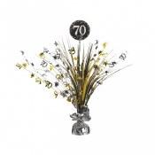 70th Sparkling Centerpiece