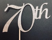 70th Cake Topper